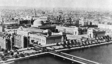 Aerial view of MIT in the 1920s - source: MIT Club of South Texas