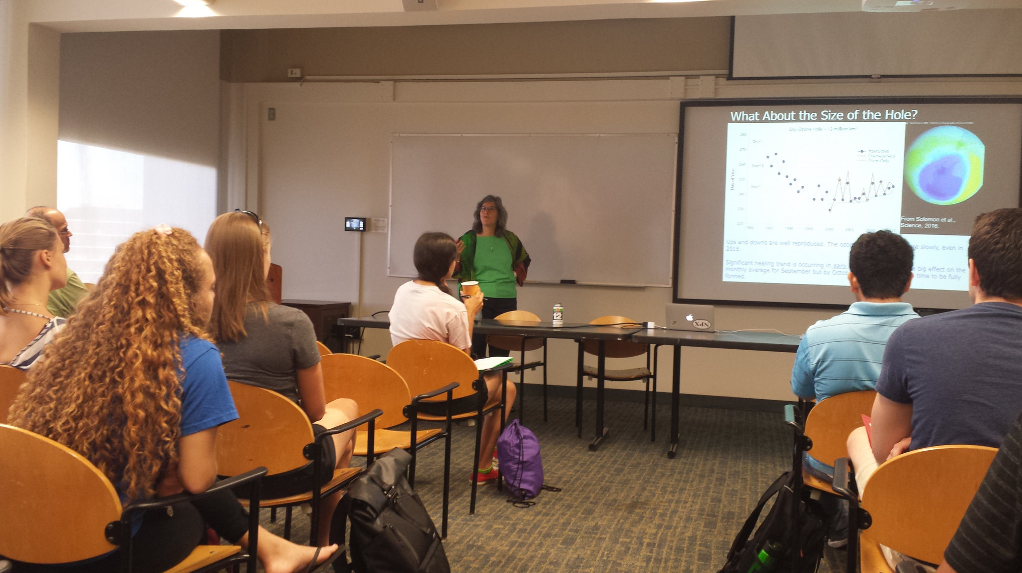 Atmospheric chemistry prof. Susan Solomon addresses the DEAPS cohort