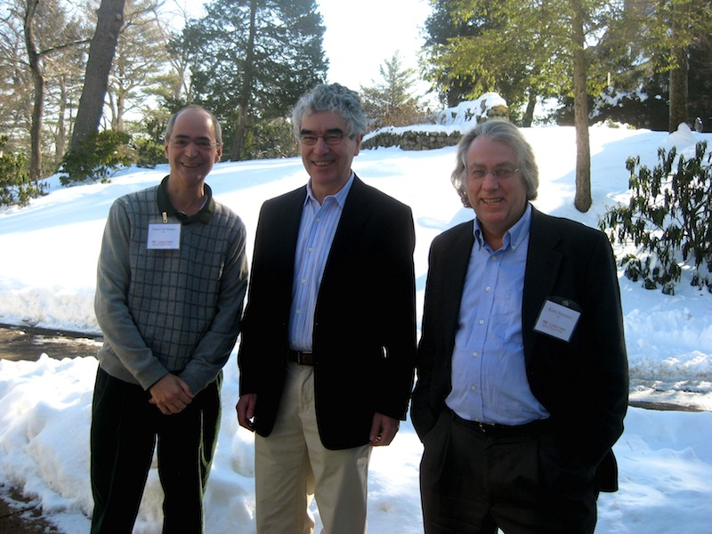 Daniel Rothman, Colin Masson, and Kerry Emanuel at the 2014 Lorenz Center Workshop. Photo: PAOC