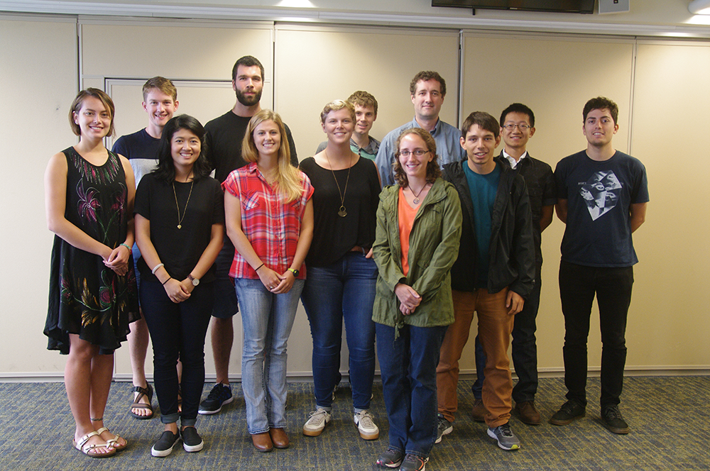New PAOC graduate students and Prof. Paul O'Gorman (Photo: Helen Hill)